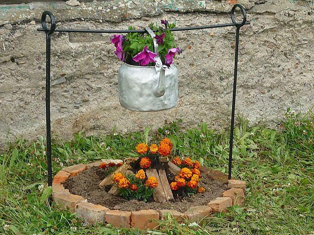 Огород своими руками фото цветы