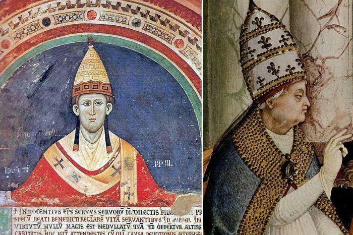 Почему на головном уборе понтификов красовалась не одна, а целых три короны.